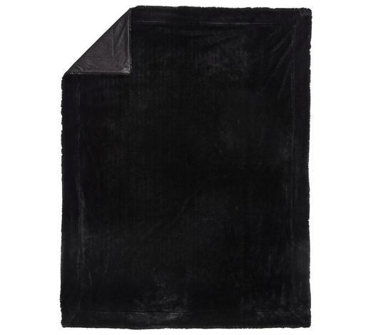 FELLDECKE 150/200 cm Schwarz - Schwarz, KONVENTIONELL, Textil (150/200cm) - Novel