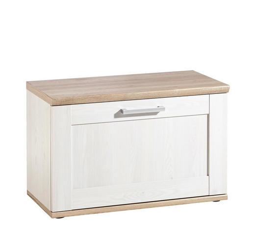 ŠATNÍ LAVICE, bílá,  - bílá/barvy stříbra, Lifestyle, kompozitní dřevo/umělá hmota (76/50/38cm) - Xora