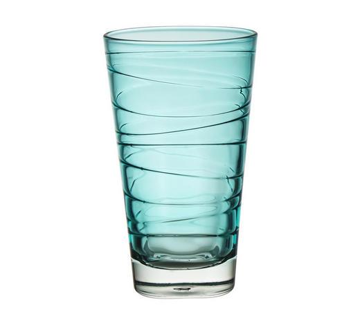 LONGDRINKGLAS 280 ml  - Blau, Design, Glas (7,50/12,60/7,50cm) - Leonardo