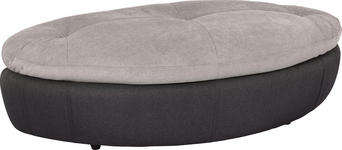 HOCKER in Textil Grau, Schwarz  - Schwarz/Grau, Design, Kunststoff/Textil (155/47/78cm) - Hom`in