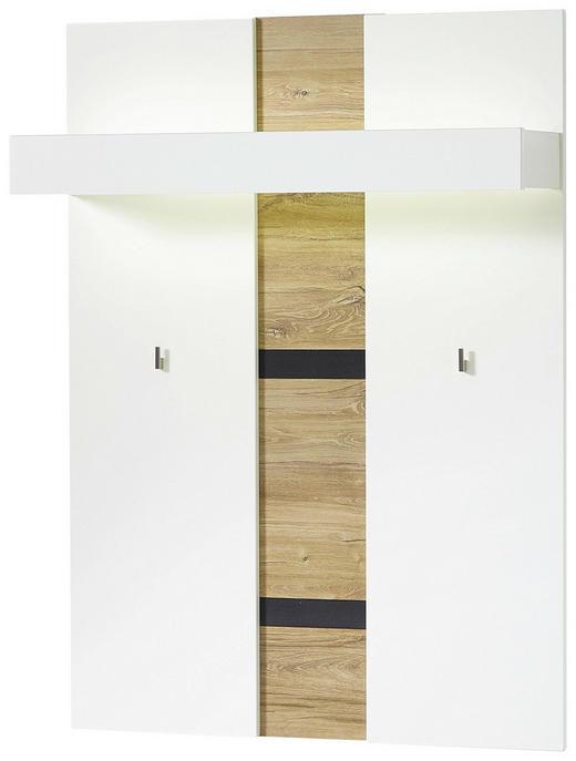 GARDEROBENPANEEL foliert Eichefarben, Weiß - Eichefarben/Weiß, Design (90/124/29cm) - Voleo