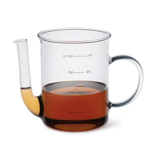 FETTREDUZIERKANNE - Klar, Basics, Glas (1,0l)