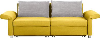 SCHLAFSOFA in Textil Dunkelgrau, Gelb - Dunkelgrau/Gelb, Design, Kunststoff/Textil (204/242/81/103cm) - Venda