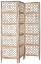 PARAVÁN - bílá/hnědá, Trend, kov/dřevo (150/180/2cm) - AMBIA HOME