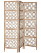 PARAVÁN, mangové dřevo, hnědá, bílá,  - bílá/hnědá, Trend, kov/dřevo (150/180/2cm) - Ambia Home