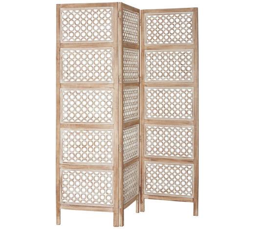 Paravent In Holz Holzwerkstoff Metall Braun Weiss Online Kaufen