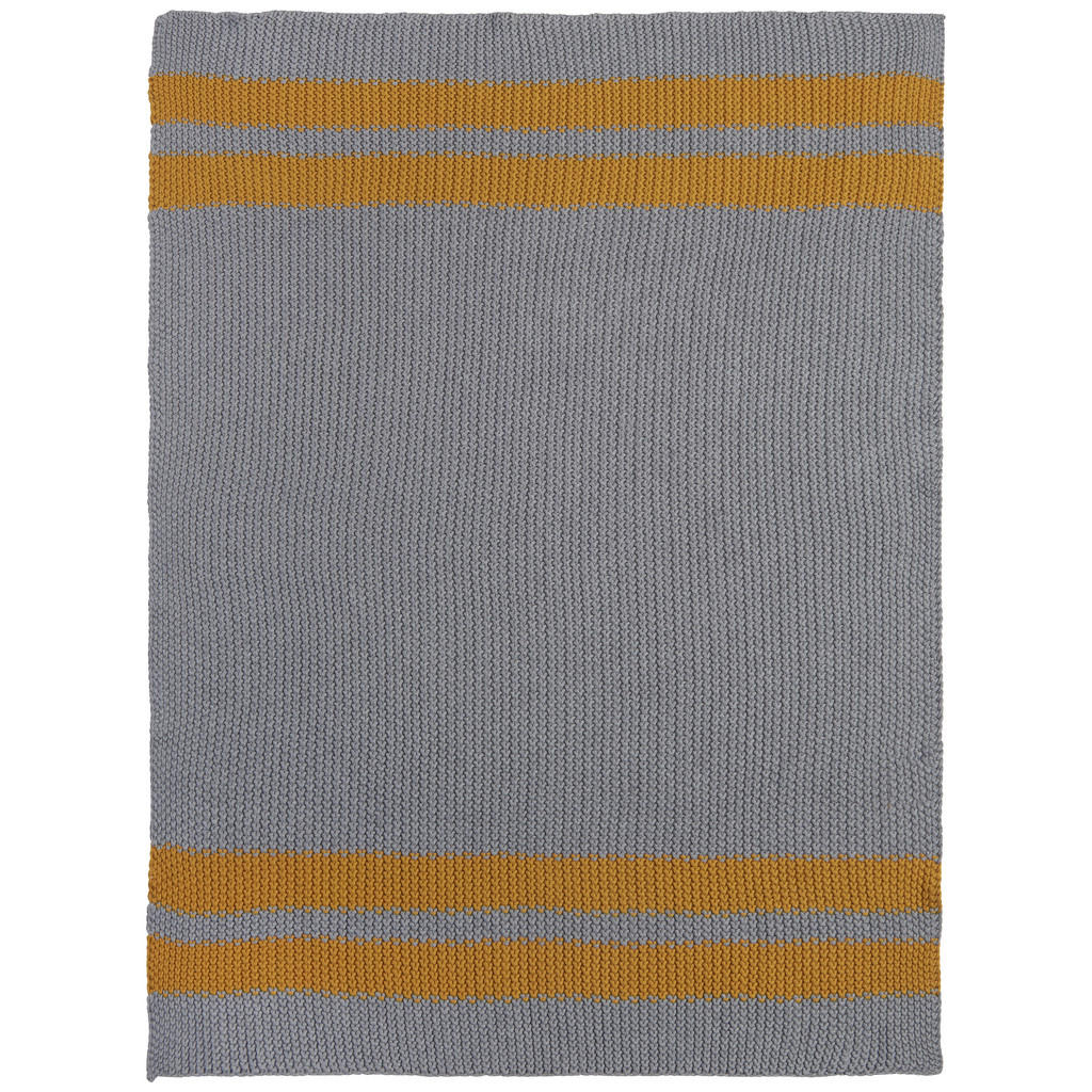 Image of Avelia Schmusedecke 80/100 cm , Paul , Gelb, Silberfarben , Textil , 80 cm , Struktur , 003969001005