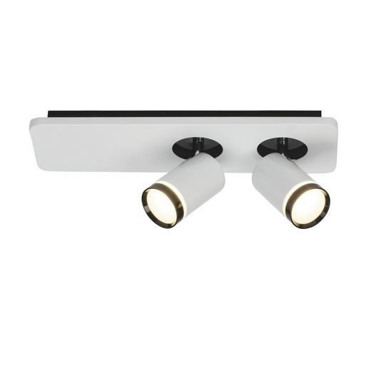 LED-SPOTKOPF - Schwarz/Weiß, Design, Kunststoff/Metall (14/36/12cm) - AEG