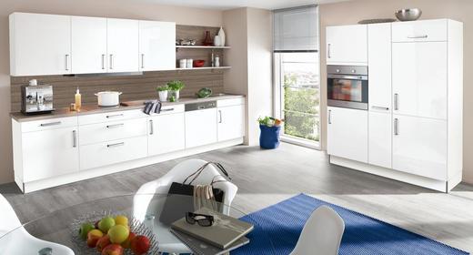 EINBAUKÜCHE - Eichefarben/Weiß, Design - Eschebach