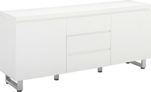 KOMMODE in Weiß - Chromfarben/Weiß, Design, Holz/Holzwerkstoff (167/74/42cm)