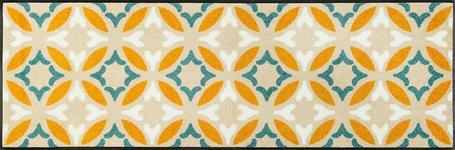 FUßMATTE 60/180 cm Graphik Beige, Gelb - Beige/Gelb, Basics, Kunststoff/Textil (60/180cm) - Esposa