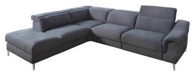 WOHNLANDSCHAFT Flachgewebe - Chromfarben/Dunkelblau, Design, Textil (249/306cm) - Dieter Knoll