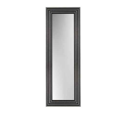 WANDSPIEGEL 54/154/2 cm - Silberfarben/Schwarz, Design, Glas/Holz (54/154/2cm)