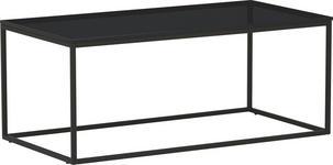 COUCHTISCH in Glas, Metall 94/47/38 cm - Anthrazit, Design, Glas/Metall (94/47/38cm) - Novel