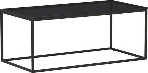 COUCHTISCH rechteckig Anthrazit - Anthrazit, Design, Glas/Metall (94/47/38cm) - NOVEL