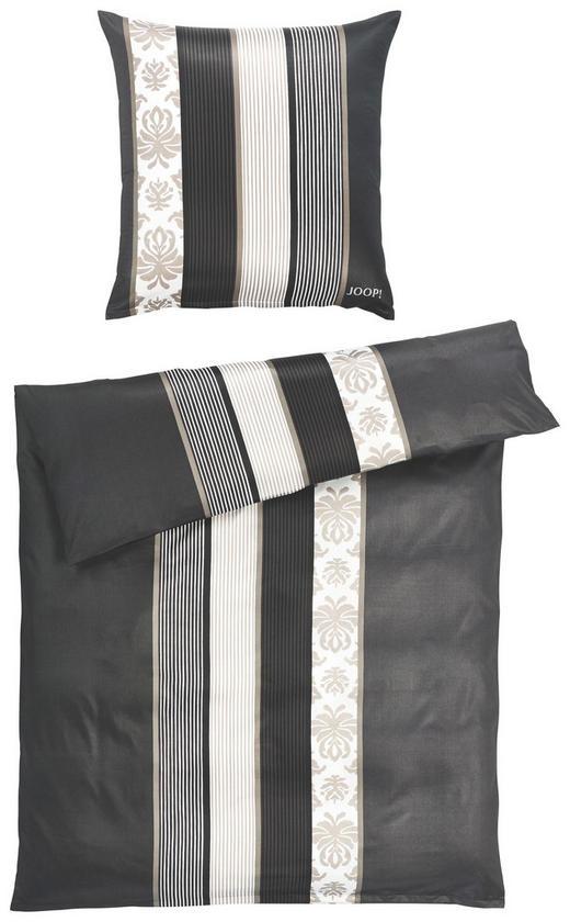 BETTWÄSCHE Makosatin Schwarz, Weiß 155/220 cm - Schwarz/Weiß, Basics, Textil (155/220cm) - JOOP!