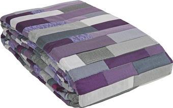 PŘEHOZ NA POSTEL - šedá/fialová, Design, textil (220/240cm) - NOVEL