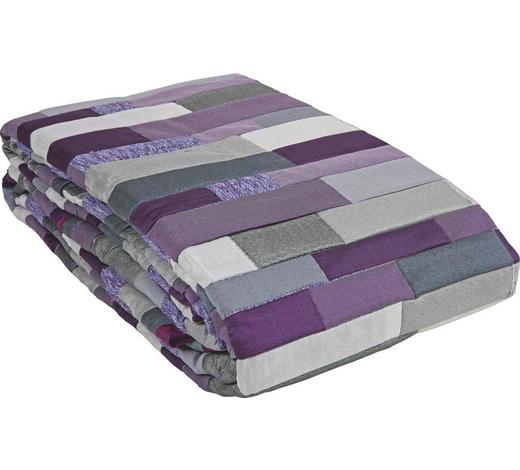 TAGESDECKE 220/240 cm - Lila/Grau, Design, Textil (220/240cm) - Novel