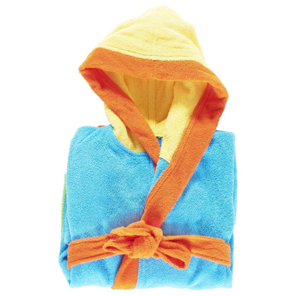 Image of Ben'n'jen Kinderbademantel funny gr 122/128 , Funny , Blau , Textil , Streifen , hochwertige Qualität , 004893010101
