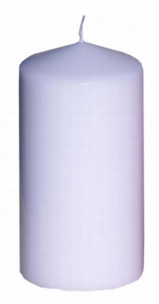 STUMPENKERZE 7,7/15 cm - Weiß, Basics (7,7/15cm) - Steinhart