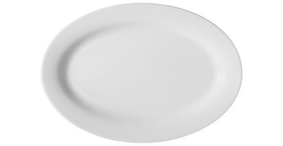 SERVIERPLATTE - Weiß, Basics, Keramik (32/22cm) - Novel