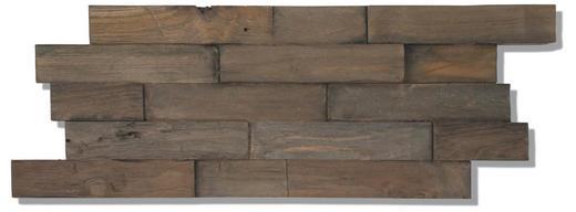 WANDVERKLEIDUNG - Dunkelbraun, Basics, Holz (50/20/2cm)