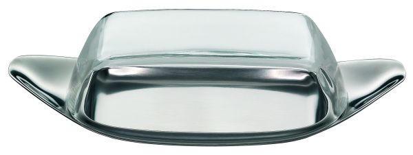 BUTTERDOSE Kunststoff, Metall - Klar/Edelstahlfarben, Basics, Kunststoff/Metall (22/11/5cm) - WMF