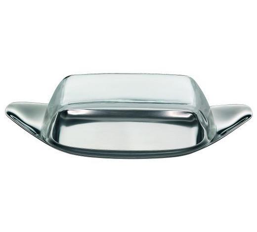 BUTTERDOSE Metall, Kunststoff - Klar/Edelstahlfarben, Basics, Kunststoff/Metall (22/11/5cm) - WMF