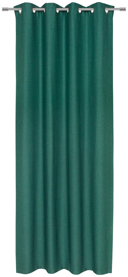 ÖSENVORHANG blickdicht - Grün, KONVENTIONELL, Textil (135/245/cm) - Esposa
