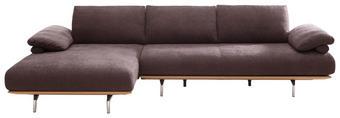 WOHNLANDSCHAFT Chenille Rückenkissen - Chromfarben/Braun, Design, Holz/Textil (168/314cm) - DIETER KNOLL