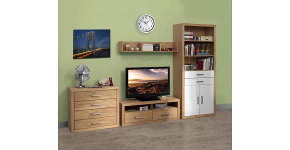 TV-ELEMENT Eiche massiv Eichefarben  - Eichefarben, KONVENTIONELL, Holz (130/45/42cm) - Linea Natura
