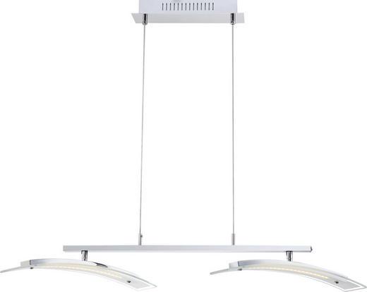LED-HÄNGELEUCHTE - Chromfarben, LIFESTYLE, Glas/Metall (90/40/150cm)