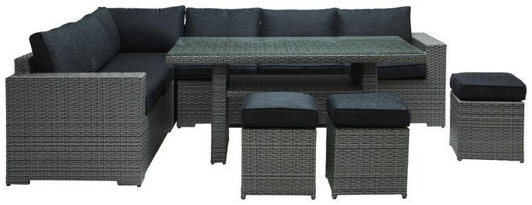 BAŠTENSKI SET - Crna/Siva, Moderno, Tekstil/Plastika (205/265cm) - Ambia Garden