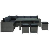 VRTNA GARNITURA - siva/prozirno, Moderno, staklo/metal (205/265cm) - Ambia Garden