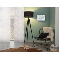 STOJACÍ SVÍTIDLO - černá, Lifestyle, kov/textil (49/157,5cm) - Ambiente