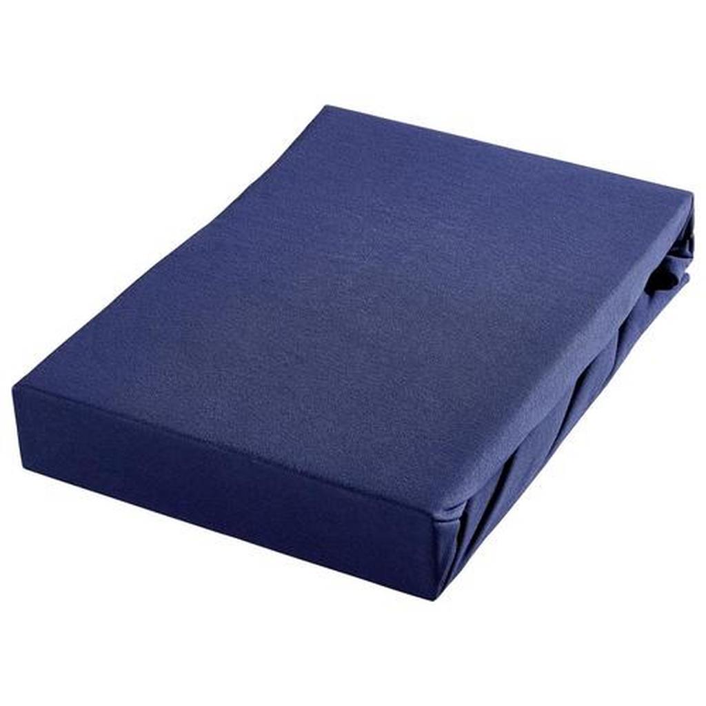 Bio:Vio Spannbetttuch jersey blau