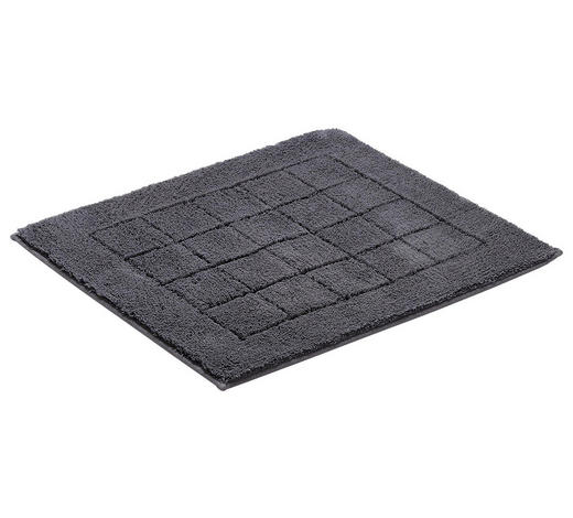 BADEMATTE in Dunkelgrau 55/65 cm  - Dunkelgrau, Basics, Kunststoff/Textil (55/65cm) - Vossen