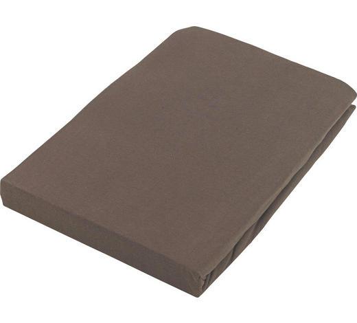 PROSTĚRADLO NAPÍNACÍ, žerzej, 140/200 cm - hnědá, Basics, textil (140/200cm) - Boxxx