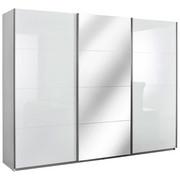 OMARA Z DRSNIMI VRATI,  - aluminij, Design, kovina/leseni material (271/210/62cm) - Xora