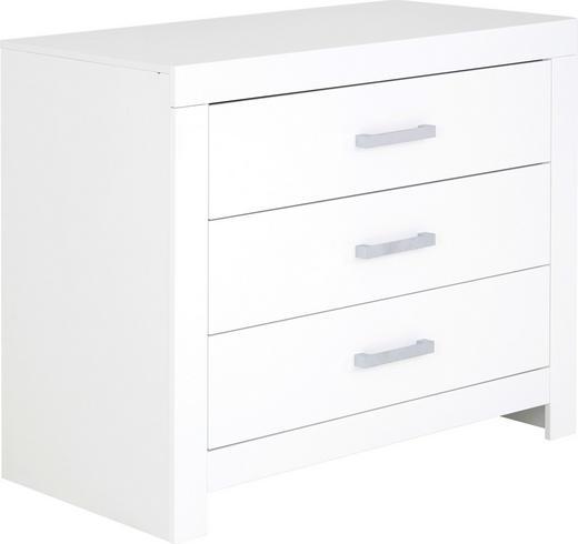 KOMMODE Weiß - Chromfarben/Weiß, Basics, Metall (110/91,9/55,3cm) - Paidi