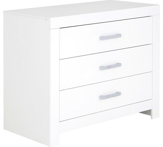 KOMMODE 110/91,9/55,3 cm - Chromfarben/Weiß, Design, Holzwerkstoff/Metall (110/91,9/55,3cm) - Paidi