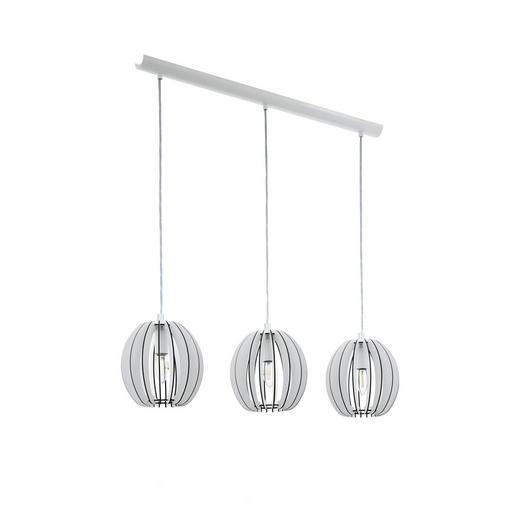 HÄNGELEUCHTE - Weiß, Design, Holz/Metall (79/19/110cm)