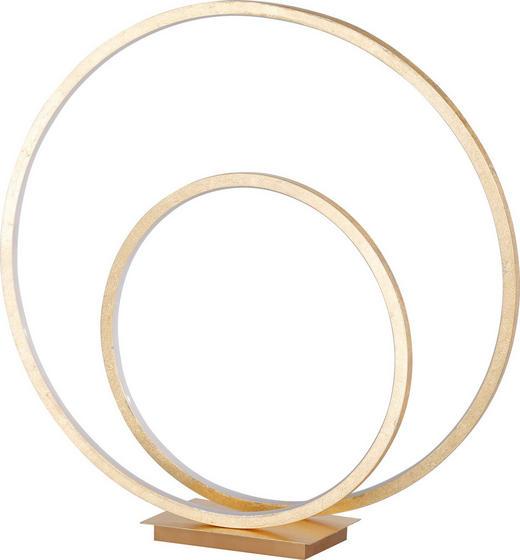 LED-TISCHLEUCHTE - Goldfarben, Design, Kunststoff/Metall (48/50cm)