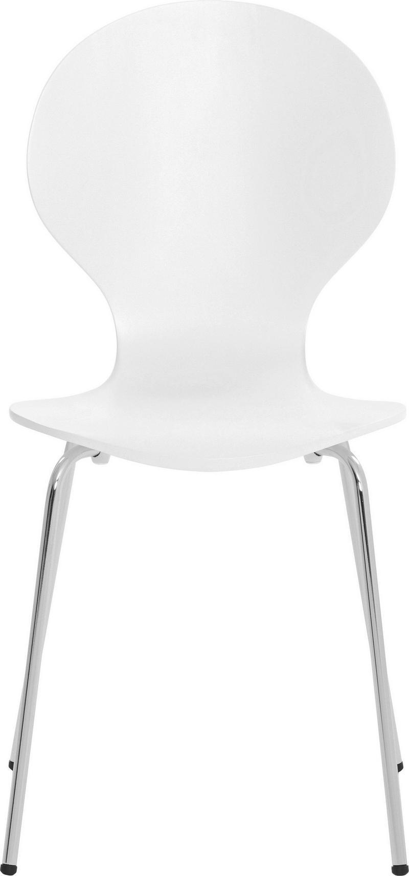STOL - vit, Design, metall/trä (55,6/87,3/46,2cm) - Low Price
