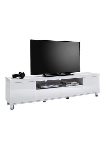 KOMODA LOWBOARD, bílá - bílá/barvy chromu, Design, kov/kompozitní dřevo (190/47/40cm) - Xora