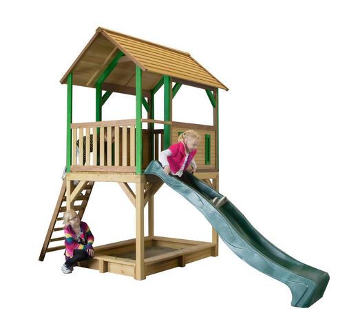 Axi Spielturm Pumba  - Blau/Braun, Basics, Holz (370/291/172cm)