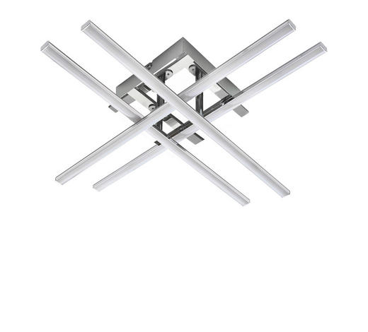 LED-DECKENLEUCHTE - Chromfarben, Design, Kunststoff/Metall (50/50/9cm) - Novel