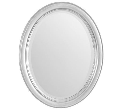 ZRCADLO, jedle, oválné - barvy stříbra, Lifestyle, dřevo/sklo (36/46/3cm) - Xora