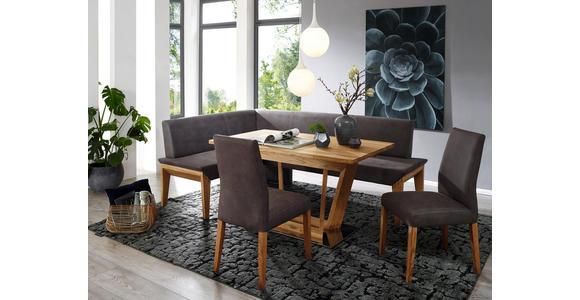 ECKBANK 152/223 cm  in Grau, Eichefarben  - Eichefarben/Grau, KONVENTIONELL, Holz/Textil (152/223cm) - Venda