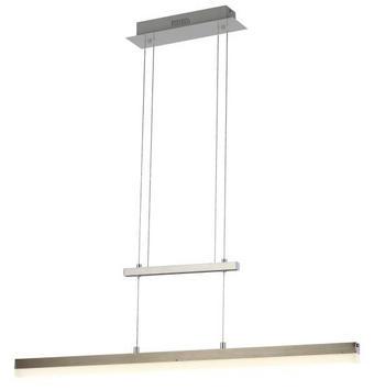 SVÍTIDLO ZÁVĚSNÉ - barvy niklu, Design, kov/umělá hmota (90/8/150cm) - NOVEL